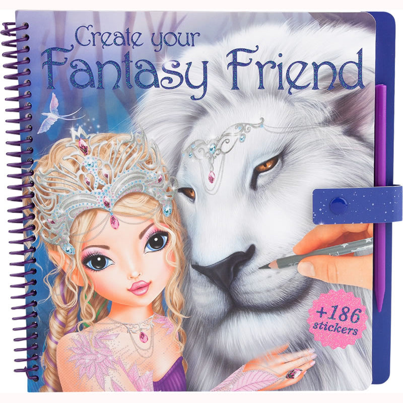 Create Your Fantasy Friend Activity Book, front cover