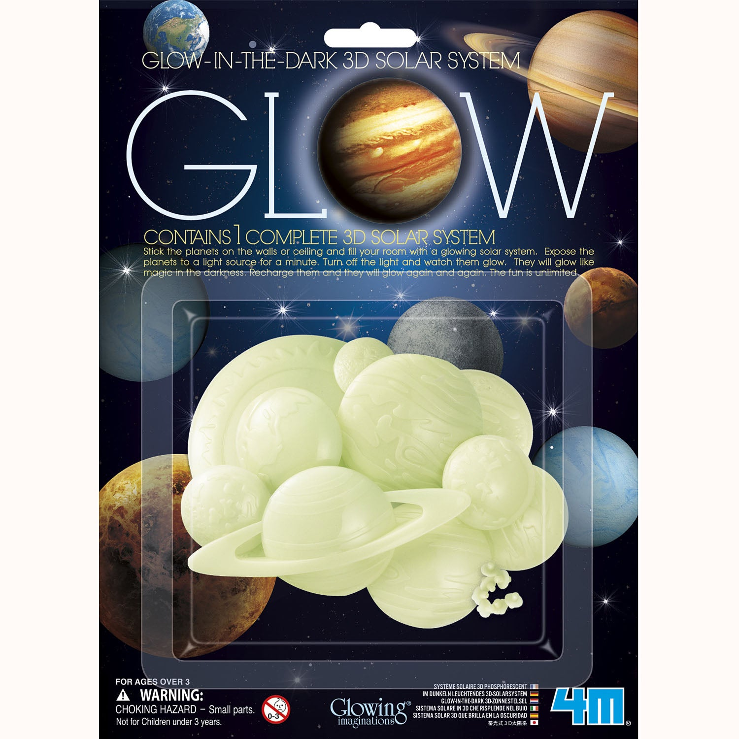 Glow-In-The-Dark 3D Solar System, in packaging