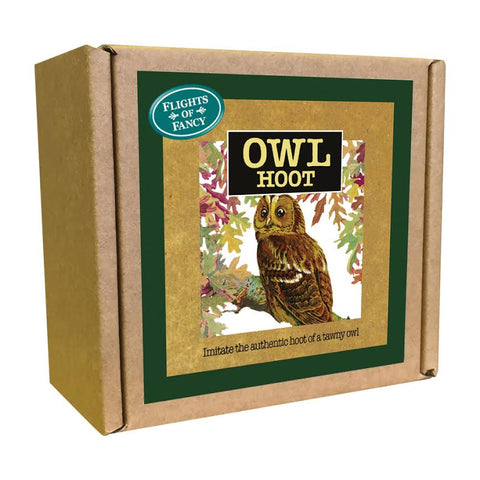 owl hoot whistle boxed