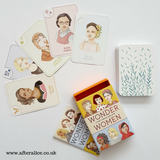 Wonder Women - Happy Families Card Game, various cards shown, booklet and box