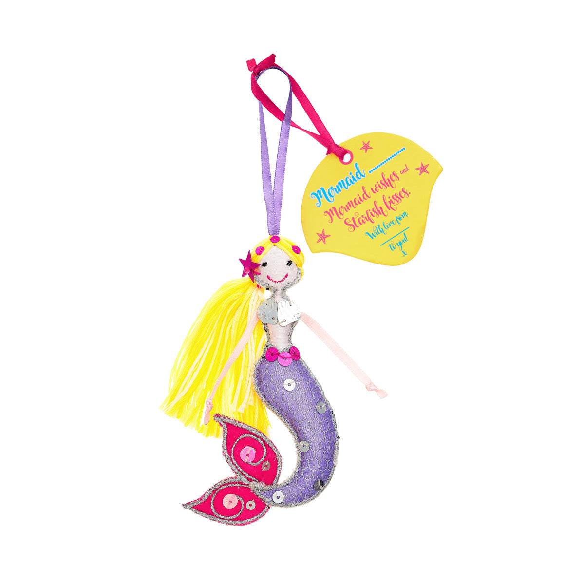 Fairtrade mermaid yellow hair
