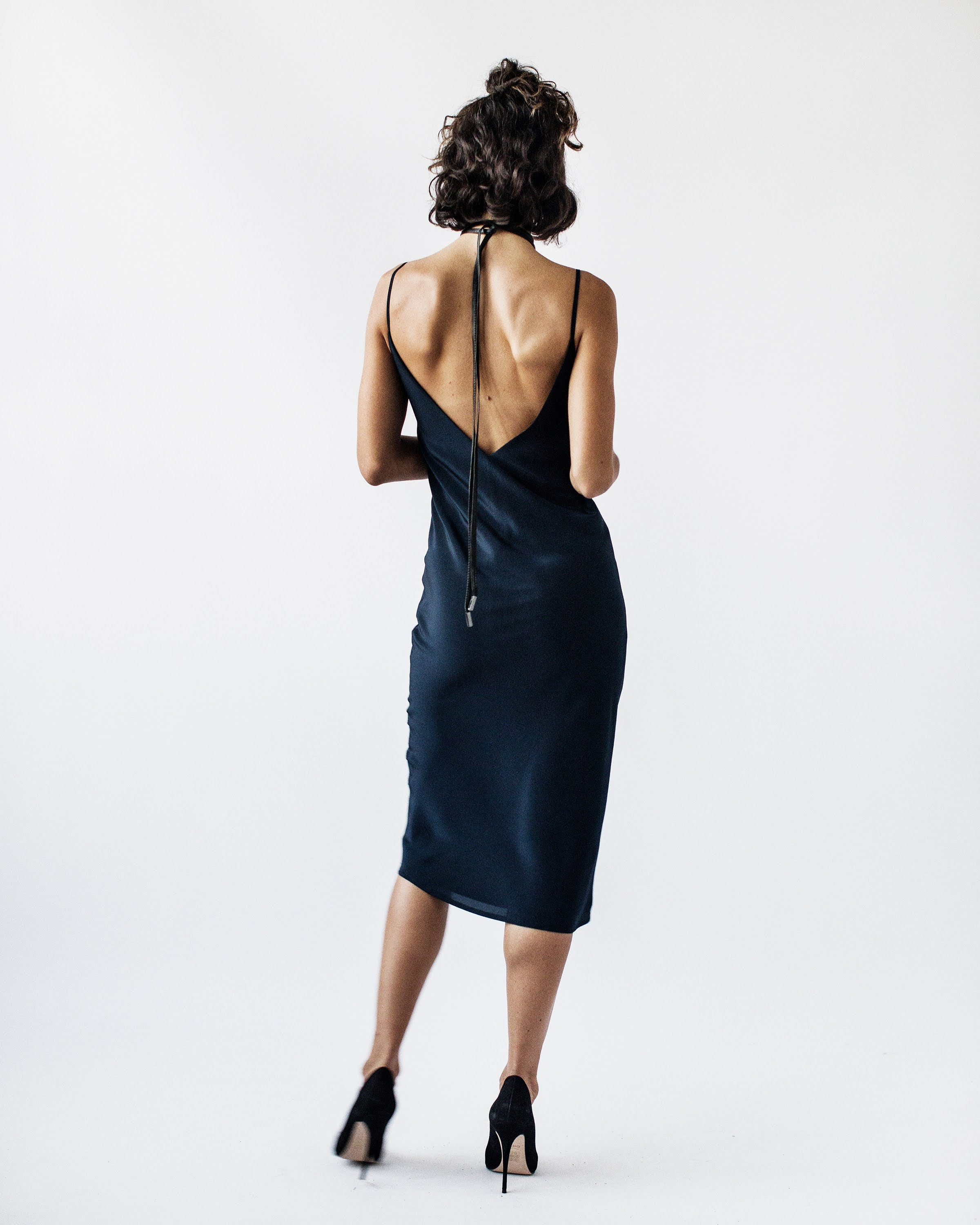 CHARLOTTE -  Bias Cut, Self Lined, Silk Slip Dress