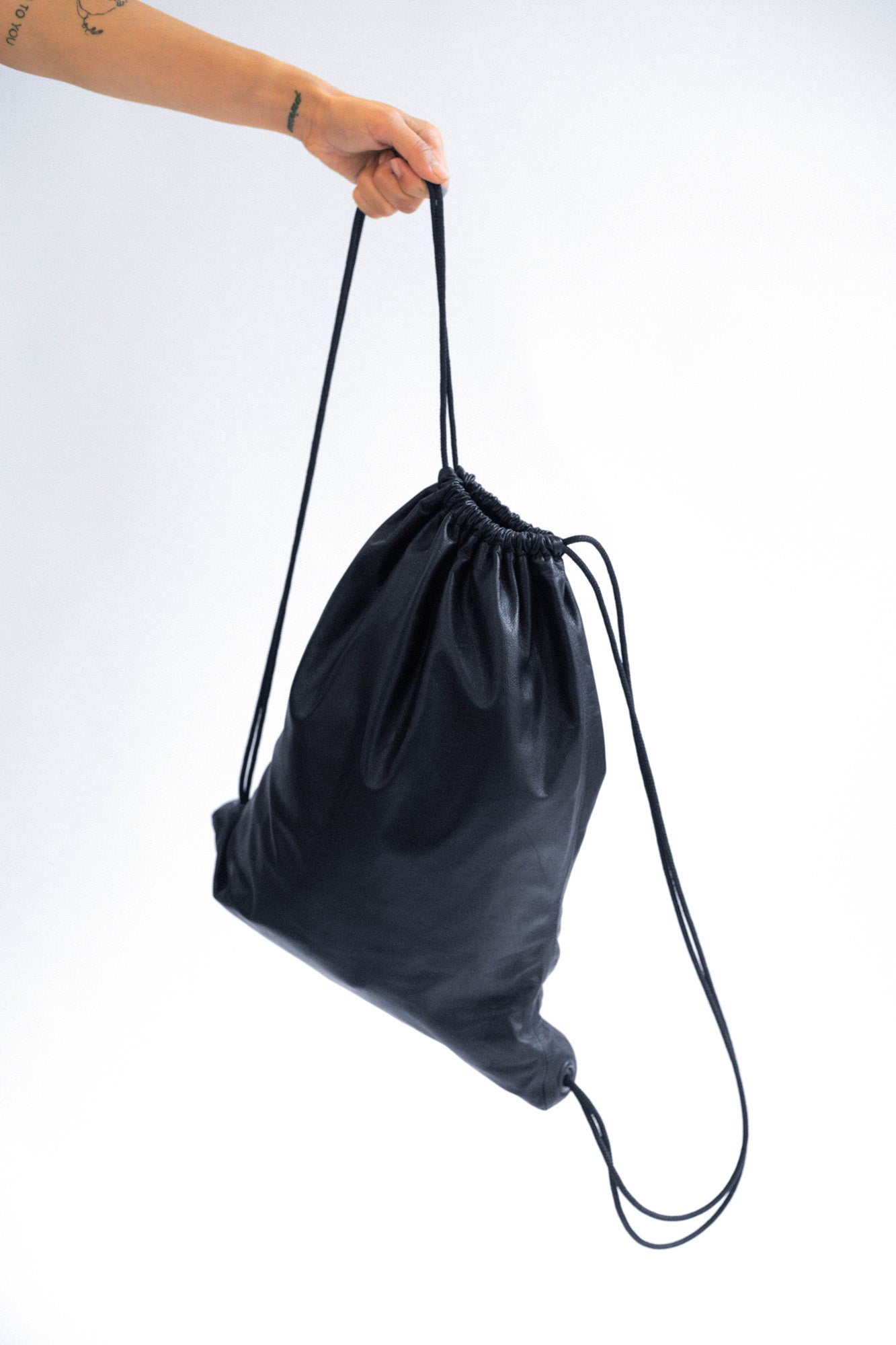 DRAWSTRING BAG - Plonge Leather Backpack