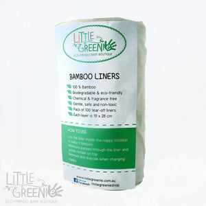 Biodegradable Bamboo Liners - 100 Pack - Little Greenie