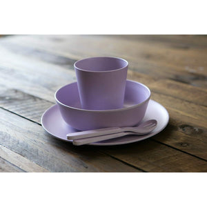 Eco-Friendly Bamboo Children's Dinner Set - Lilac - Little Greenie