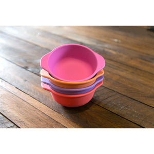 Eco-Friendly Bamboo Children's Snack Bowl Set - Sunset - Little Greenie