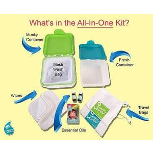 Cheeky Wipes All in One Cloth Baby Wipes Kit - Little Greenie