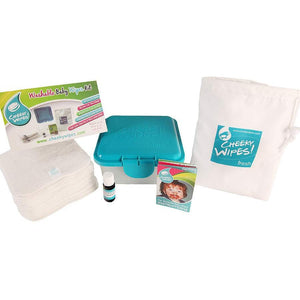 Cheeky Wipes Bamboo Velour Cloth Baby Wipes Mini Kit (for cloth nappy users) - Little Greenie