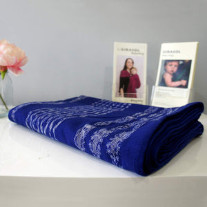 Girasol Woven Wrap: Blue Ikat - Size 4 - Little Greenie