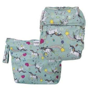 Grovia O.N.E Purrrfect Cloth Nappy and Wet Bag Combo - Little Greenie
