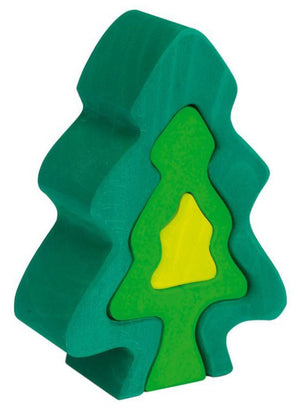 Gluskafer Fir Tree stacker Puzzle - Little Greenie