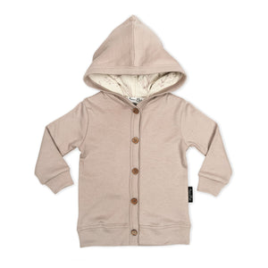 Mushroom hooded cardigan - Little Greenie
