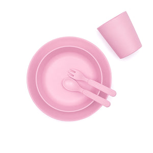 Eco-Friendly Bamboo Children's Dinner Set - Blossom - Little Greenie
