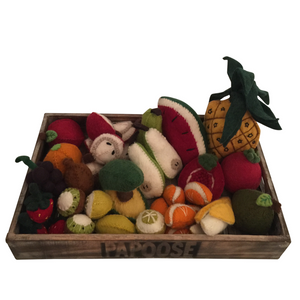 Felt fruit crate