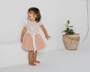 Peach circus tutu dress - Little Greenie