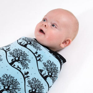 Aster & Oak Organic Swaddle Wrap Blanket - Enchanted Fields - Little Greenie