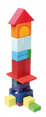 Grimms Traditional Coloured Building Blocks - 30 Pieces - Little Greenie