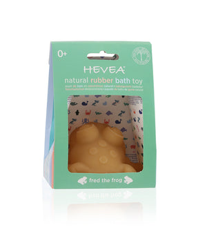 Hevea Fred Frog Natural Green Bath Toy - Little Greenie