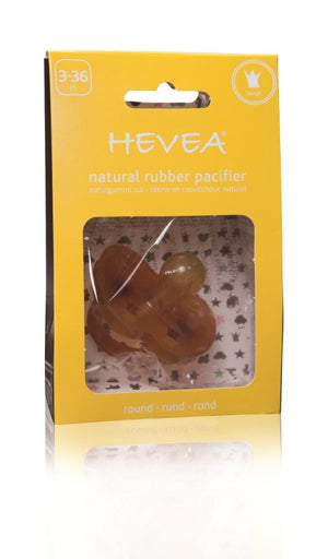Hevea Crown Pacifier - Round - Little Greenie
