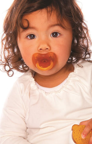 Hevea Star & Moon Pacifier - Orthodontic - Little Greenie