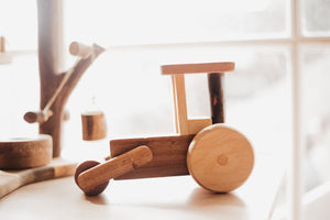 Wooden steam roller - Little Greenie