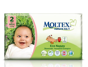 Moltex eco biodegradable nappies - Little Greenie