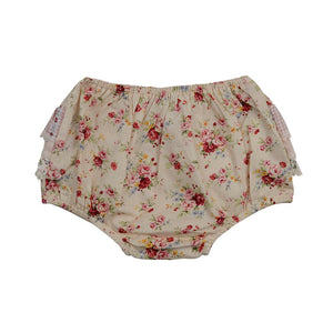 Nude Floral Bum Bloomers - Little Greenie