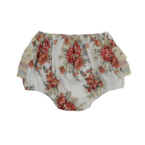 Red floral bum Bloomers - Little Greenie