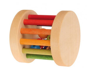 Grimm's Mini Wooden Rolling Bell - Little Greenie