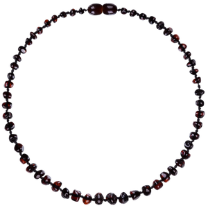 Boroque Cherry Amber Teething Necklace - Little Greenie
