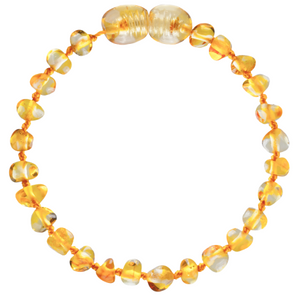 Baltic Amber Children's Bracelet / Anklet - Baroque Honey - Little Greenie
