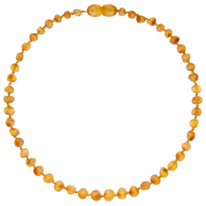 Baltic Amber Children's Necklace - Baroque Honey - Little Greenie