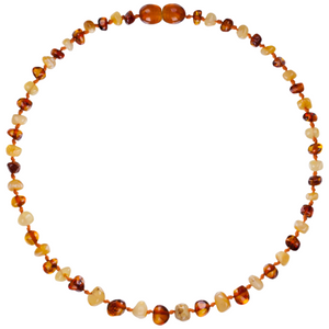 Baltic Amber Children's Necklace - Baroque Milk & Cognac - Little Greenie