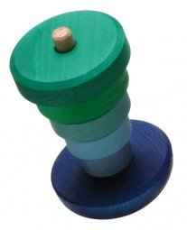Grimm's little blue wobble stacker - Little Greenie