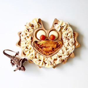 Bamboo Children's Plate - Lizzie the Frill Neck Lizard - Little Greenie