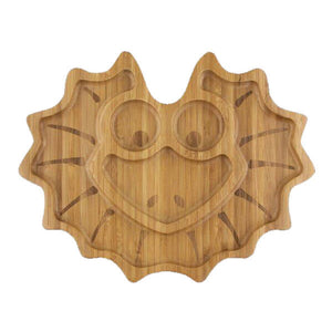 Lizzie the Frill Neck Lizard Bamboo Plate - Little Greenie