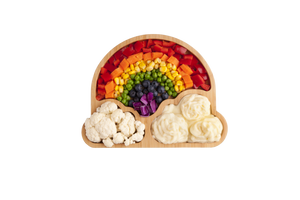 Children's bamboo rainbow plate with suction - Little Greenie