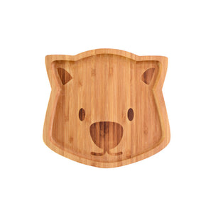 Waldo the Wombat Bamboo Plate - Little Greenie