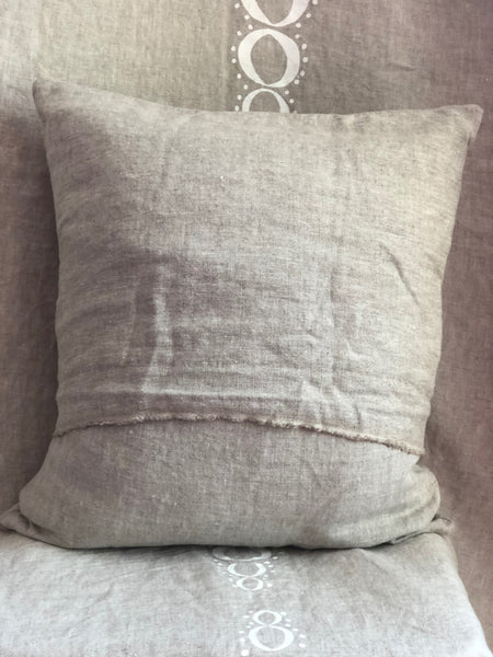 Linen Maine Mermaid Pillow
