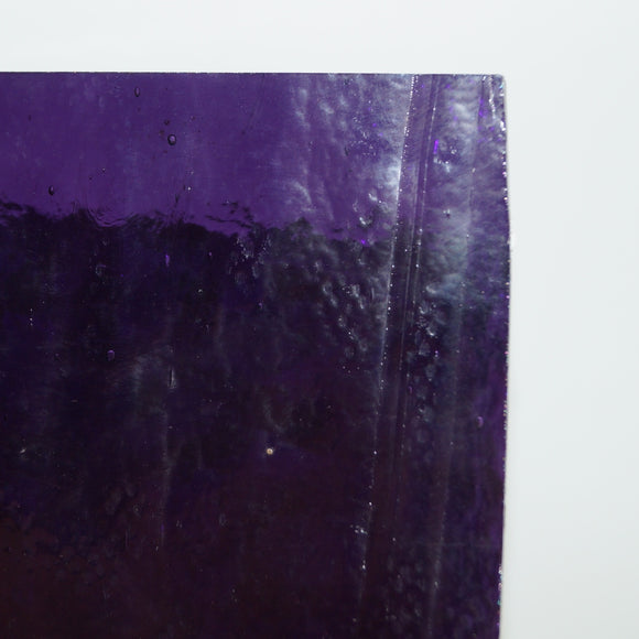 Amethyst Dark Transparent Sheet Glass Effetre 104 CoE