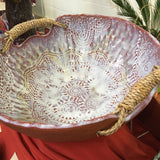 Basket Bowl with Seagrass Handles