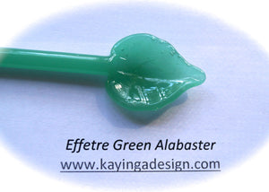 Green Alabaster Effetre Glass Rods