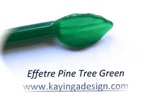 Green Pine Tree Alabaster Effetre Glass Rods