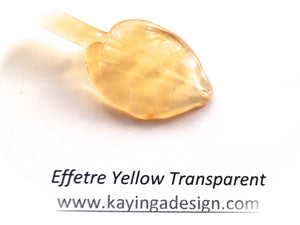 Yellow Transparent Effetre Glass Rods