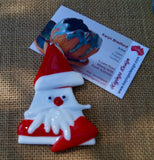 Santa Christmas Decoration - Fused Glass