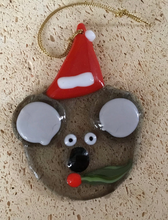 COOEE Koala Christmas Decoration - Fused Glass