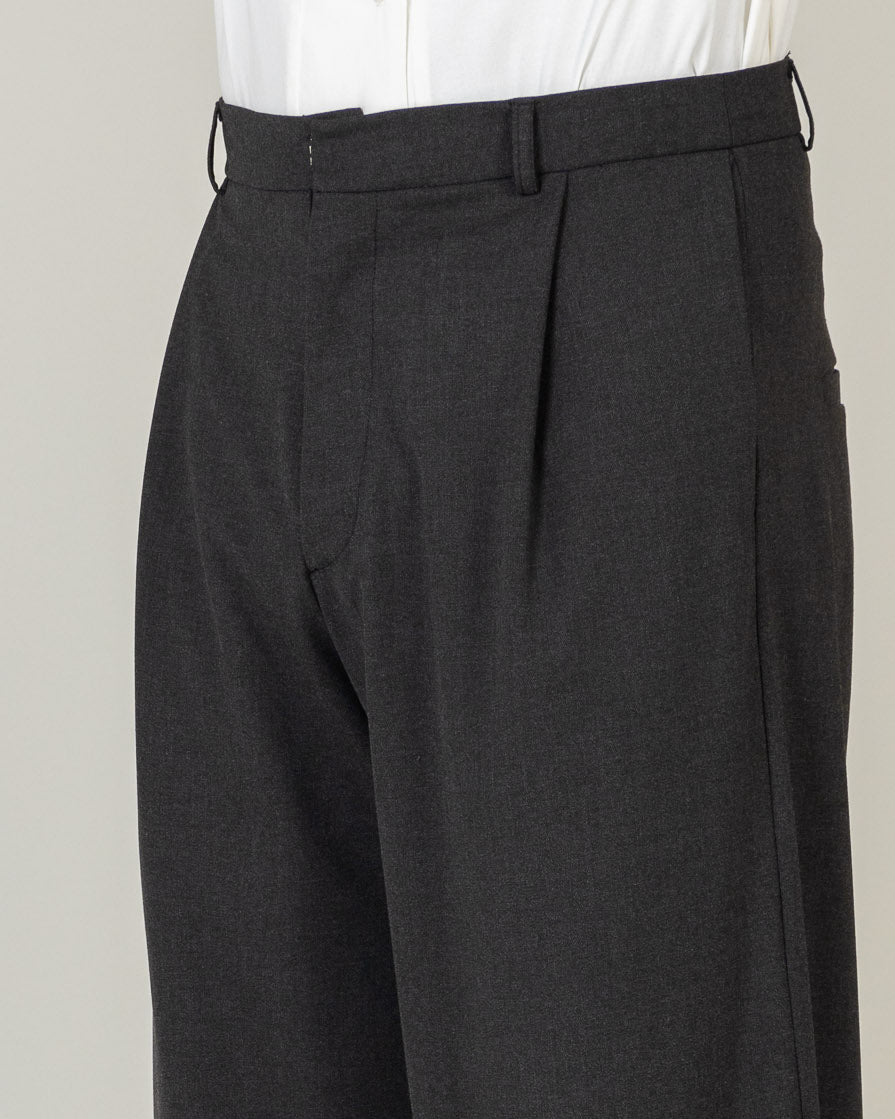 Pleated Hem Trousers - T29M