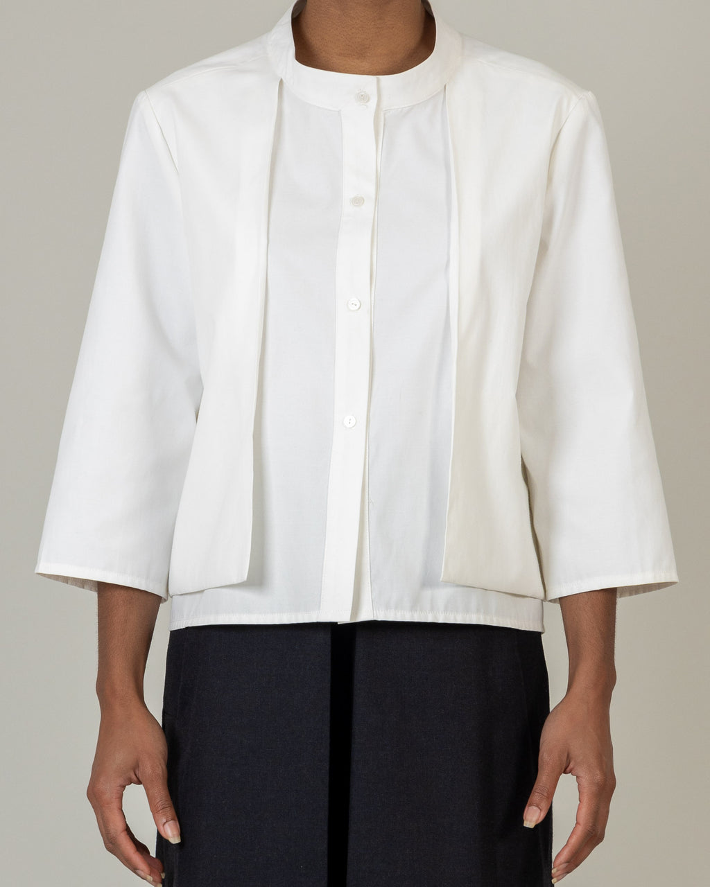 Over Layer Pleat Shirt - S13W - MAE MAZE