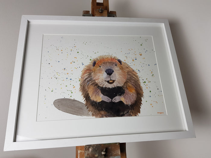 "Beaver Watercolour 'Roland' - 16.5"" x 12"" #3042"