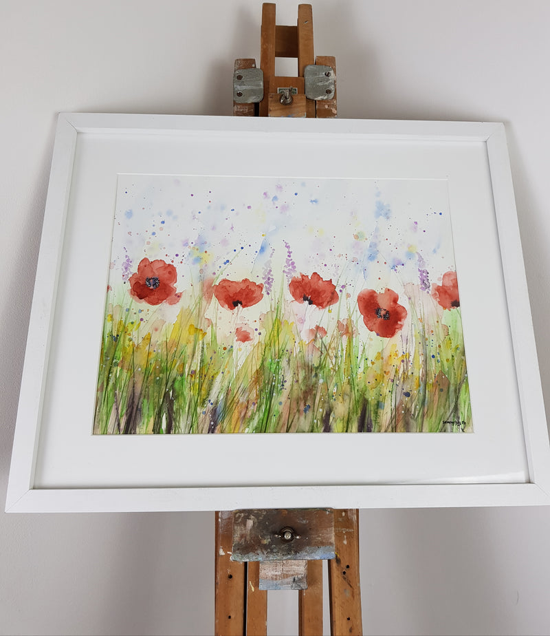 "Poppies Watercolour 'Salute' - 16.5"" x 12"" #3062"